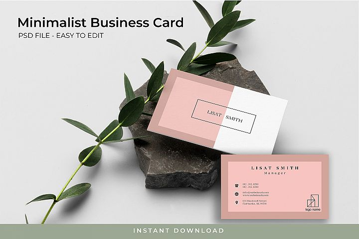 Minimalist Business Card - PSD TEMPLATE