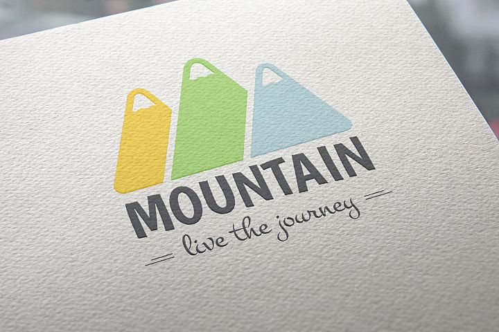 Mountain Logo Template example 1
