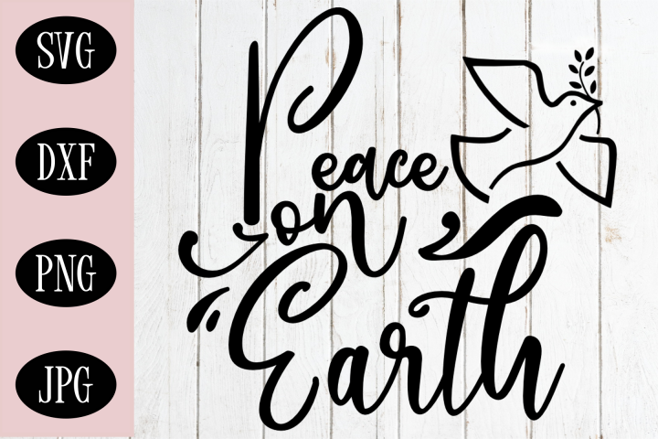Peace On Earth Christmas SVG | Christmas Cut File
