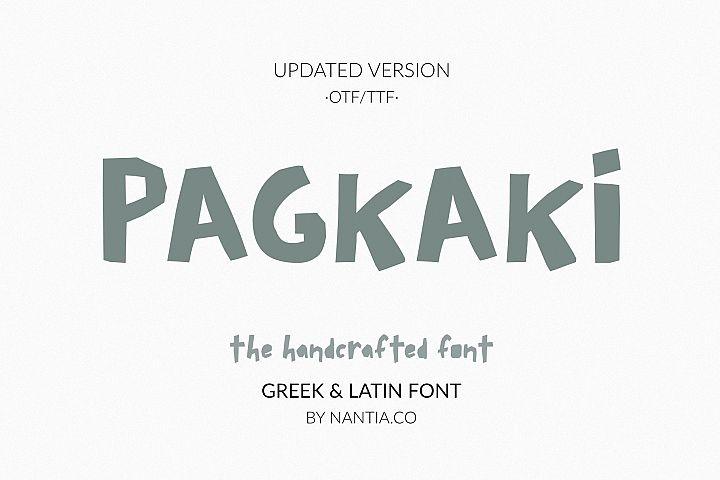 Pagkaki, Handcrafted Font, Greek Font, Display Font