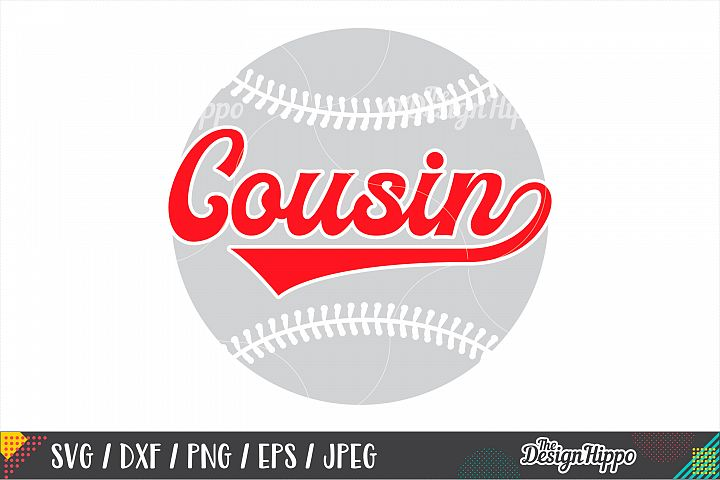 Baseball Cousin SVG PNG DXF EPS Cutting Files