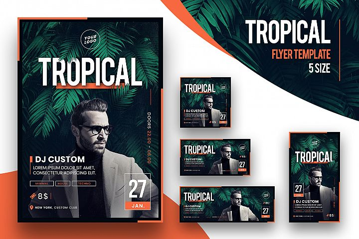 Tropical Party Flyer Template