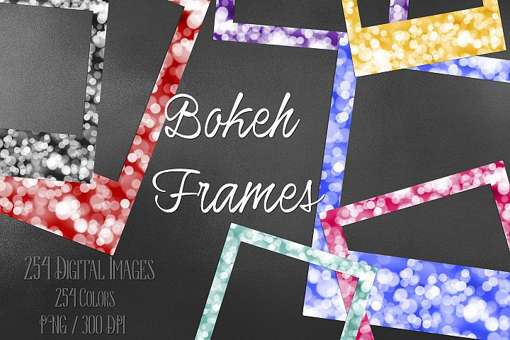 254 Bokeh Polaroid Bridal Shower Photo Booth Photo Frames