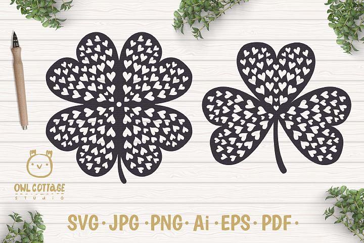 St. Patricks day svg, Clover Leaf, Clover Leaf Tattoo