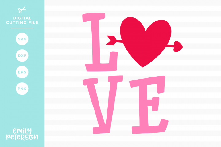 Love SVG DXF EPS PNG