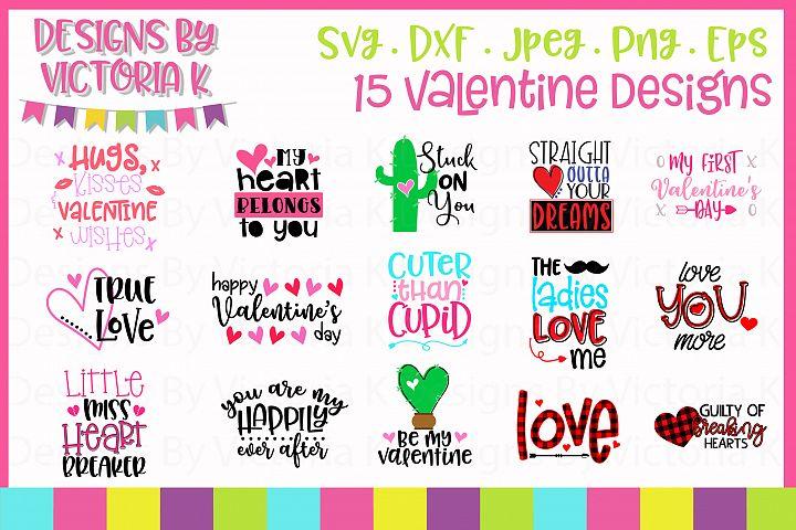 Valentines Day Bundle SVG Cut Files