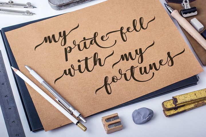 Antelope Script - Free Font of The Week Design 1