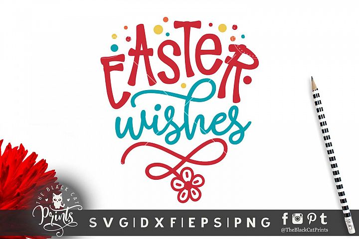 Easter wishes SVG DXF EPS PNG