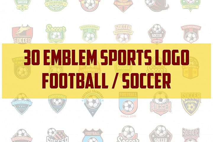 30 football / soccer emblem sports logo