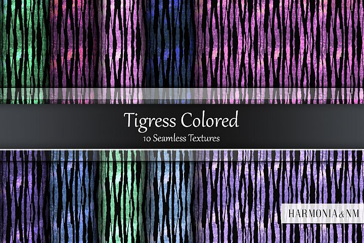 Tigress Colored 10 Seamless Textures
