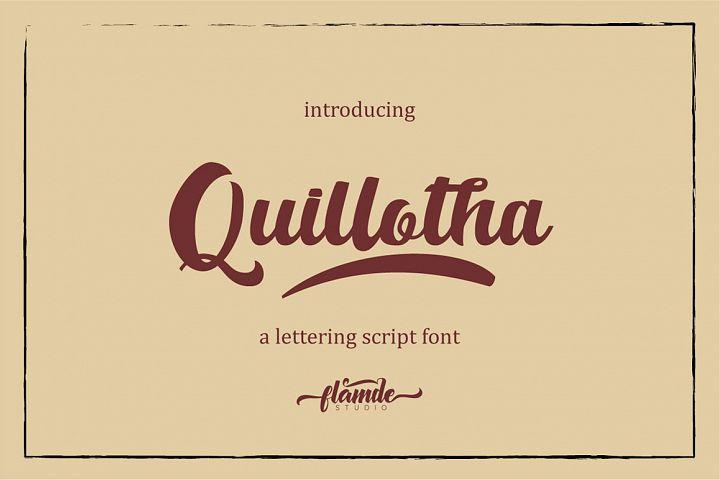 Quillotha - Script Font