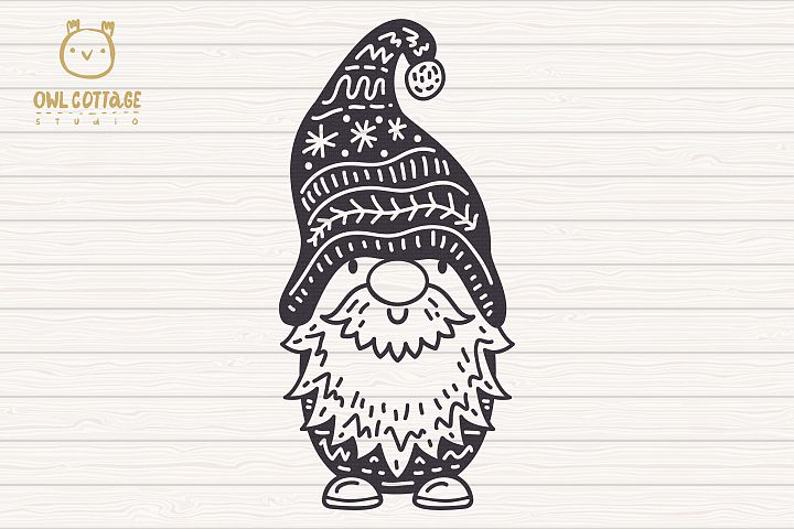 Scandinavian Gnomes SVG, Gnome Clipart, Tomte example 3