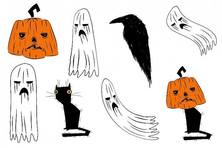 Halloween design pack illustration.