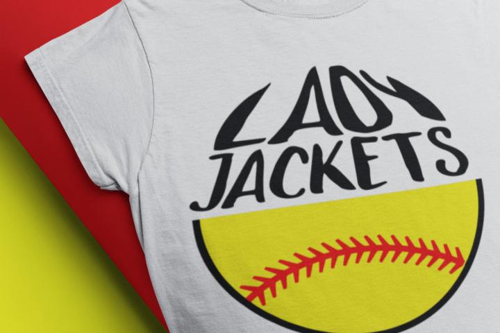softball mom SVG softball svg, yellow jackets lady jackets