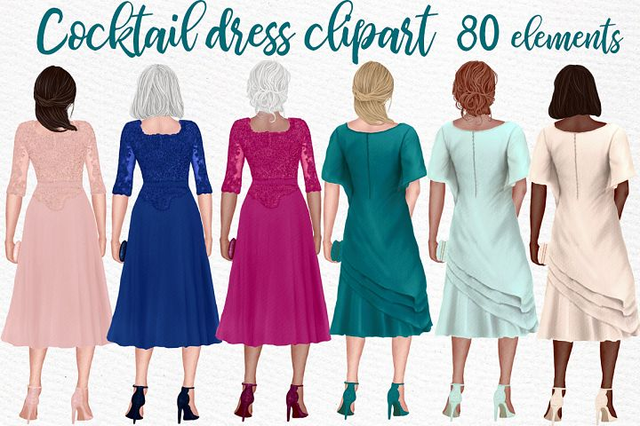 Cocktail Dresses clipart Party dresses Mother of the Bride