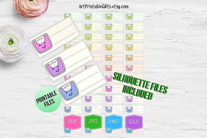 Scale stickers printable, Weight loss tracker printable