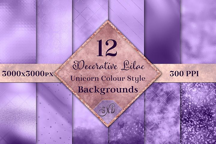 Decorative Lilac Unicorn Colour Style Backgrounds Textures
