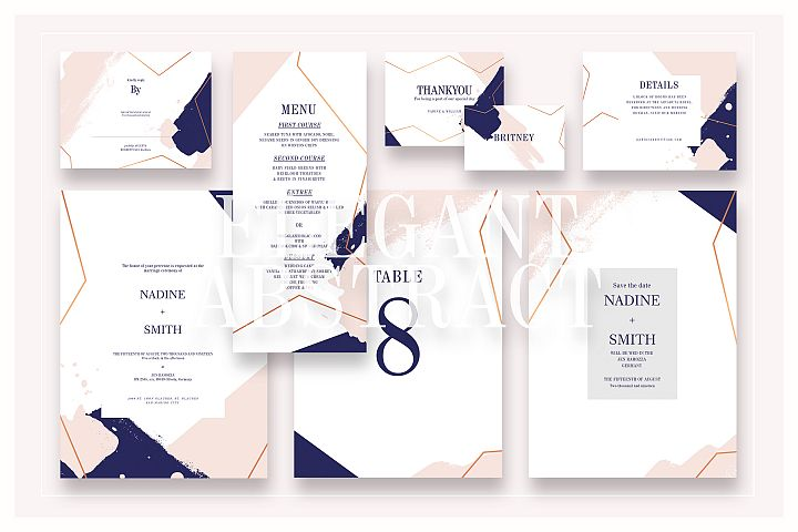 Elegant Abstract Wedding Suite Ac.06
