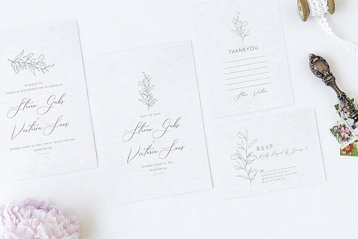 Minimal Sketch Wedding Suite