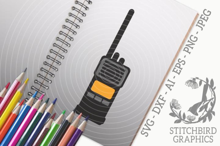 Walkie Talkie Radio SVG, Silhouette Studio, Cricut, Eps, Dxf