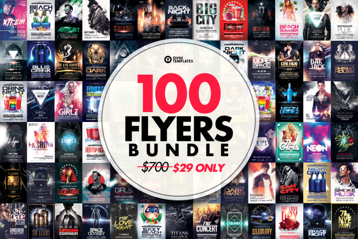 100 PREMIUM FLYER TEMPLATES BUNDLE