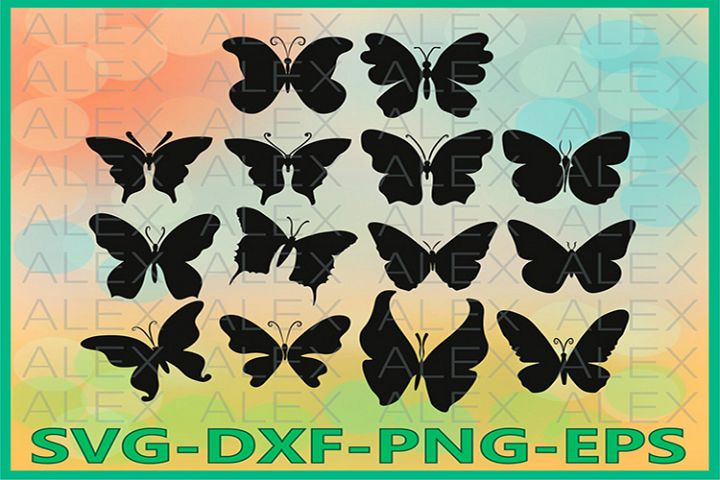 Butterfly Svg, Butterfly Cut Files, Dxf