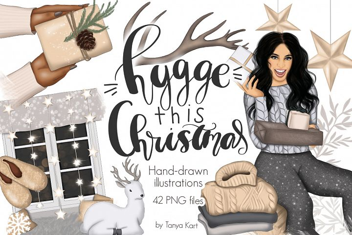Hygge This Christmas Clipart & Patterns