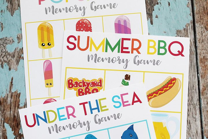 Printable Summer Memory Matching Game - 3 Games - ONE Download