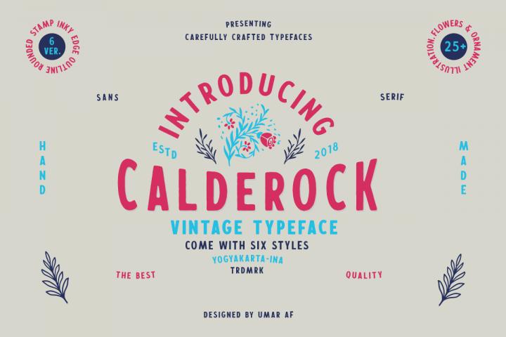 Calderock Typeface Extras