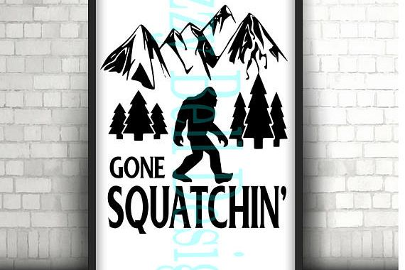 Sasquatch Bigfoot Gone Squatchin SVG, Outdoors SVG