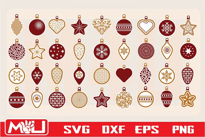 Christmas ball Svg, Clipart, Silhouette and Cut file.