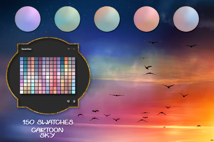 Cartoon Sky Swatches