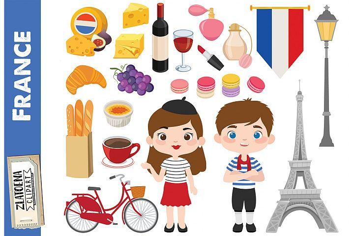 Paris clipart France digital art Paris graphics Eiffel Tower