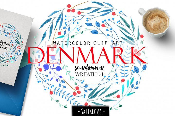 Denmark. Scandinavian wreath #4
