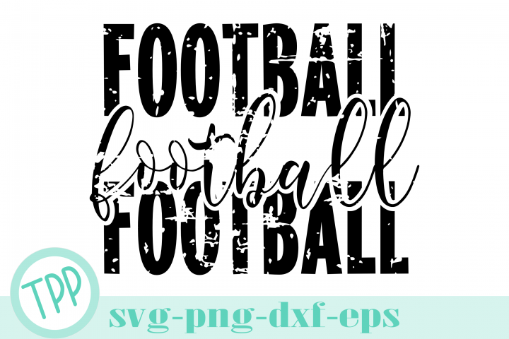 Distressed Football svg, Football season cut file, Fall svg