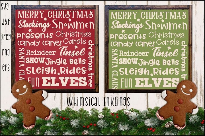Christmas Collage SVG