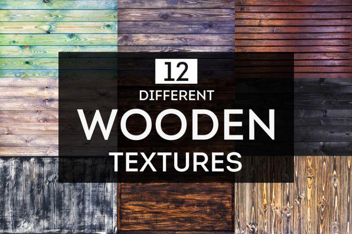 12 different wooden textures