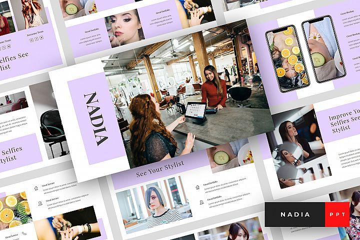 Nadia - Hair Salon PowerPoint Template