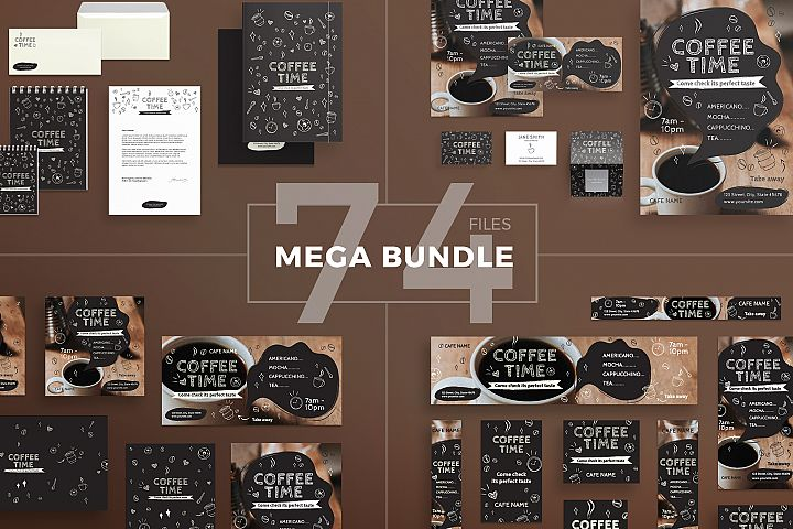 Coffee Shop Design Templates Bundle
