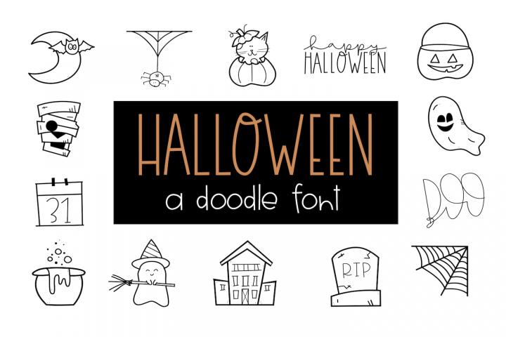 Creep It Real - A Spooky Halloween Doodles Font