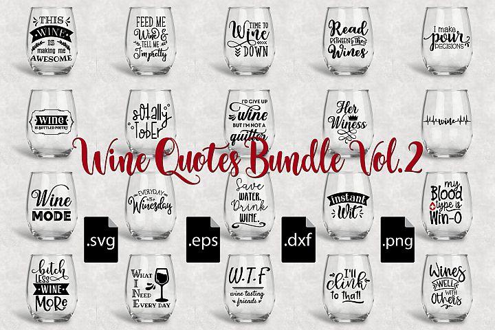 Wine Quotes Bundle Vol 2 - SVG, EPS, DXF, PNG