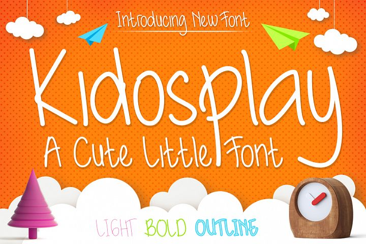 Kidosplay - Playful Font Family