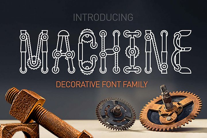 Machine font family