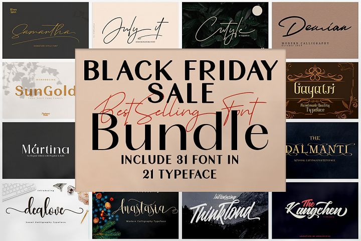Black Friday - Font Bundle Collections