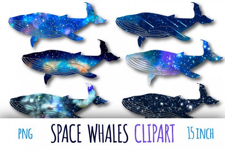 Galaxy whales clipart