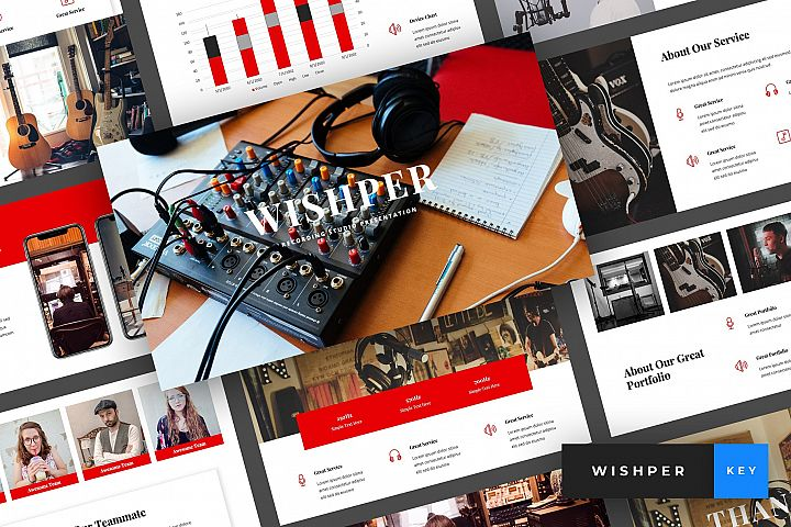 Whisper - Recording Studio Keynote Template