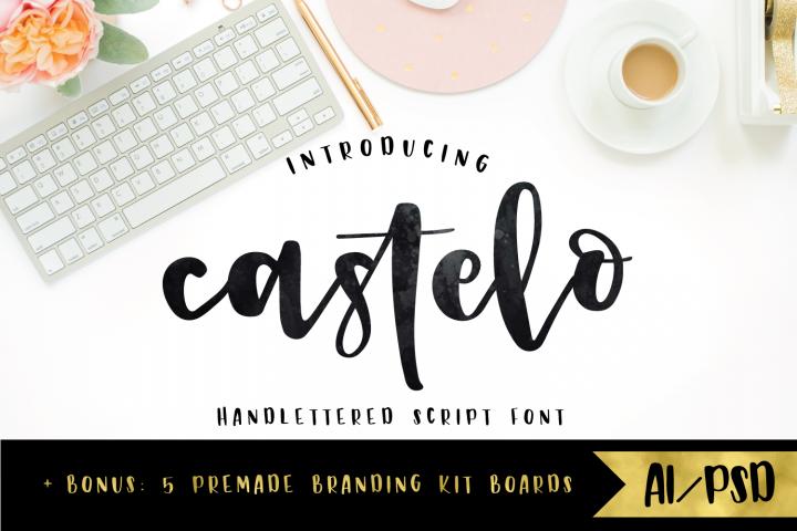 Castelo Script + 5 Branding Boards