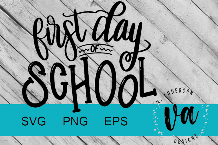 First Day of School Handwritten SVG