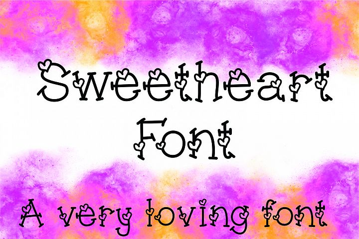 Sweetheart Hand Lettered Heart Font