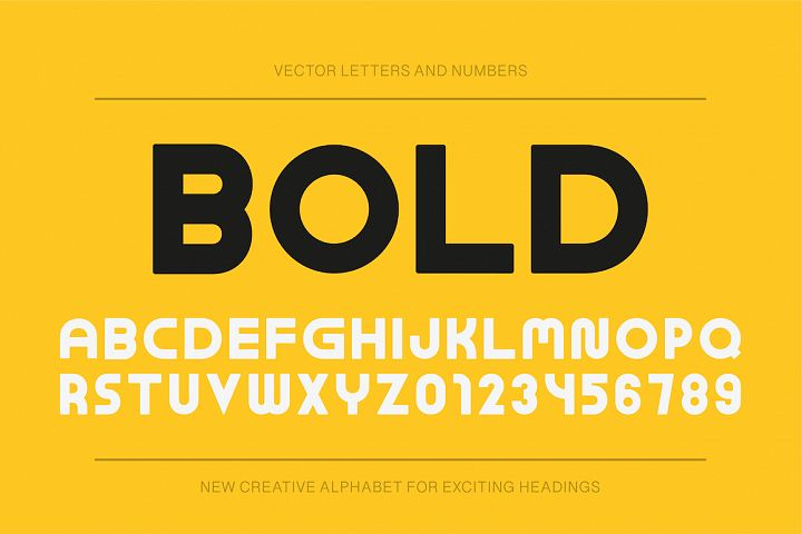 Modern bold english alphabet